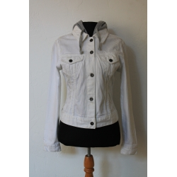 WHITE JEANS JACKET SIZE S