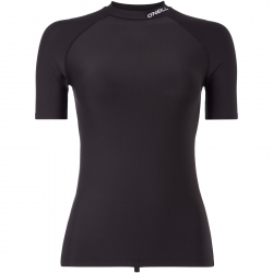 Logo S/Slv Rash Guard Black