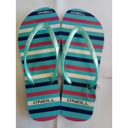 Blue stripe flipflops