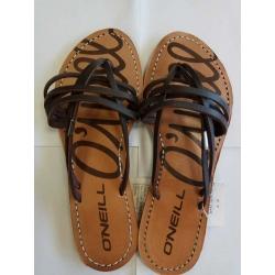 Brown sandals - размер 37
