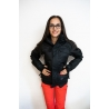 Black snow jacket - size S