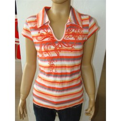 Stripe polo - size 152