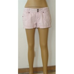 Pink denim shorts - size 152