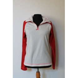 RED/WHITE FLEECE SIZE M