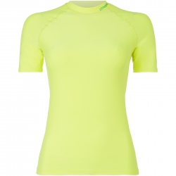 Logo S/Slv Rash Guard Lime